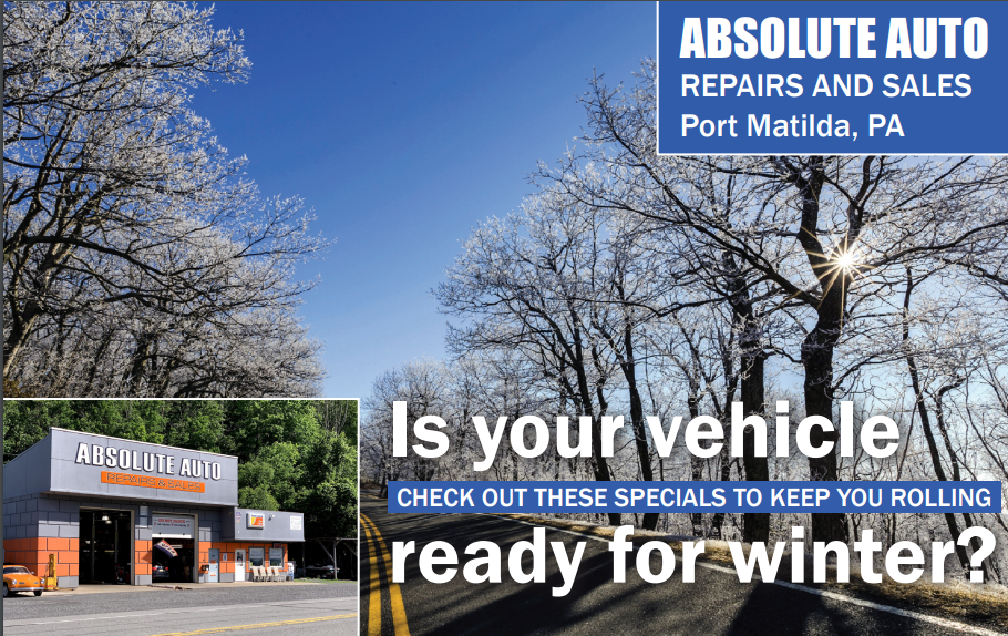 Winter special 2020, absolute auto, is your vehicle ready for winter, winter specials.
