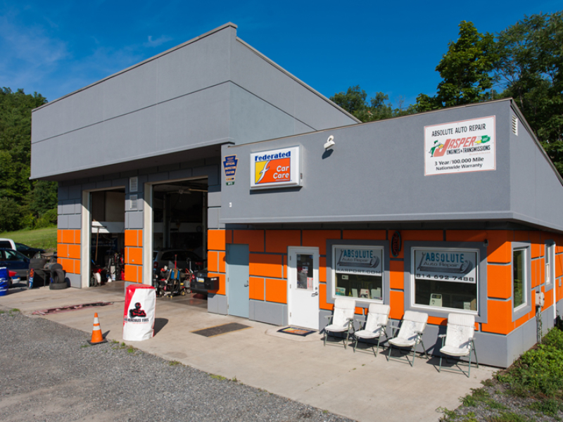 Auto Repair, front of the building, two bay shop, Modern Shop